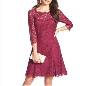 Eliza J Tulip Burgundy Lace dress size 8